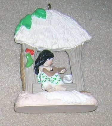 1987 Windows of the World #3 Polynesian Hallmark Ornament