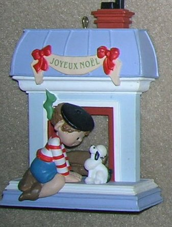 1988 Windows of the World #4 Joyeux Noel Hallmark Ornament