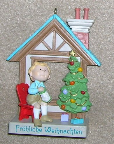 1989 Windows of the World #5 Frohliche Weihnachten Harllmark Ornament