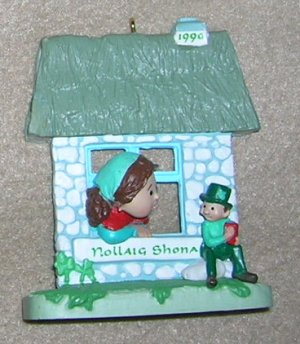 1990 Windows of the World # 6  Nollaig Shona Harllmark Ornament