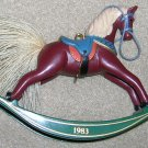 1983 Russet Rocking Horse Harllmark Ornament