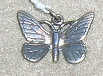 Sterling Butterfly Charm