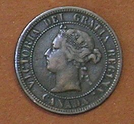 1876H Canadian Cent