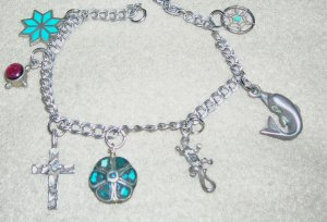 Danecraft Sterling Bracelet with 7 Charms
