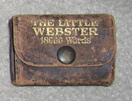 Vintage Leather Little Webster English Dictionary - Little Book