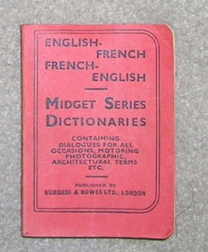 Midget English /  French Dictionary - Little Book