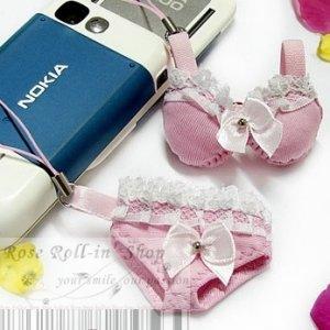 Bikini Cell Phone Strap - Pink 7770201001