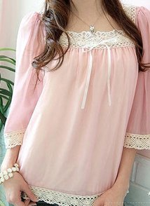 Chiffon tunic style blouse - One size - Also available in black, ivory and light yellow