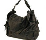 Exclusive accented top flap hobo handbag purse