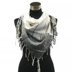 Stylish square metallic shawl scarf