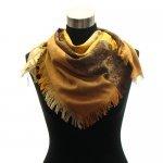 Exclusive jacquard paisley square pashmina scarf