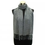 Soft cashmere feel scarf with fringe