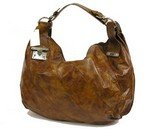 Stylish patent oversized buckle accented hobo handbag purse