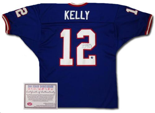 Jim Kelly Autographed Jersey - Authentic