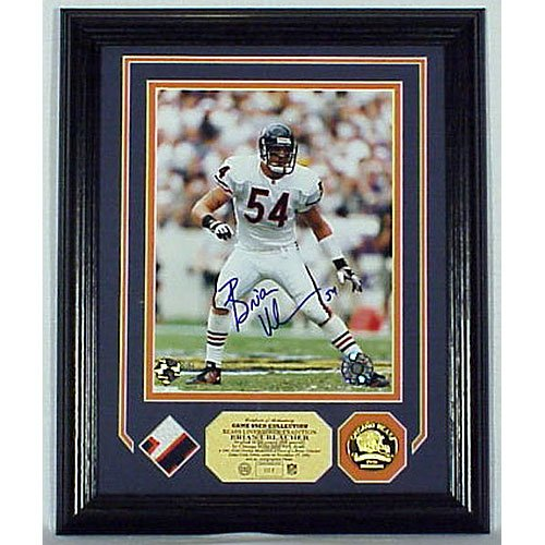 Brian Urlacher Autographed game used Jersey Photo Mint
