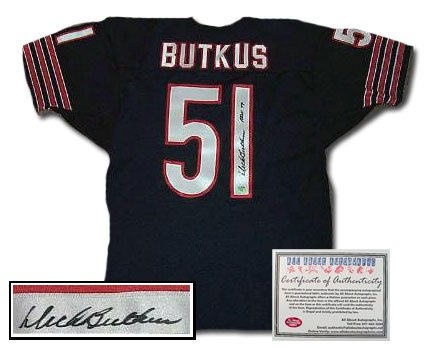 Dick Butkus Autographed Jersey - Authentic
