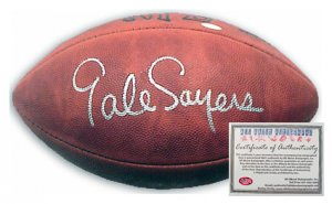 Gale Sayers Autographed Football