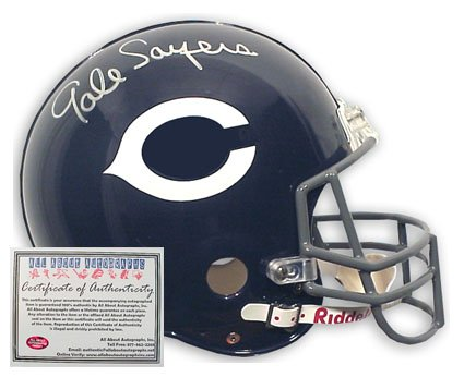 Gale Sayers Autographed Mini Helmet - Replica