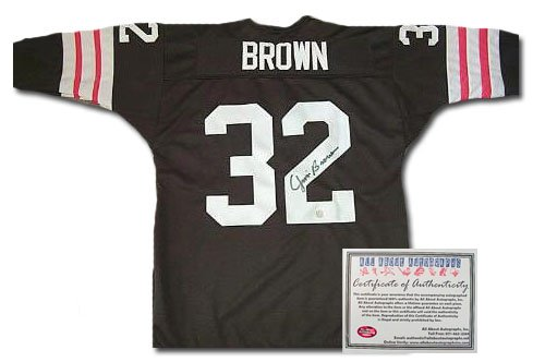 Jim Brown Autographed Jersey - Authentic