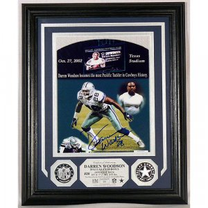 Darren Woodson Autographed Photo Mint W/ Two Silver Coins