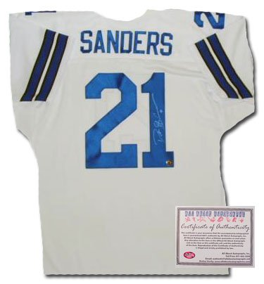 Deion Sanders Signed Jersey - Authentic