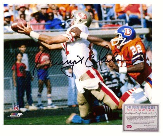 Autographed Dwight Clark Photo - 8x10 Catch vs Denver Broncos