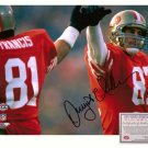 Signed Dwight Clark Photo - 8x10 Super Bowl XIX High Five