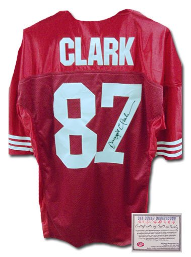 Dwight Clark Autographed Jersey- Authentic