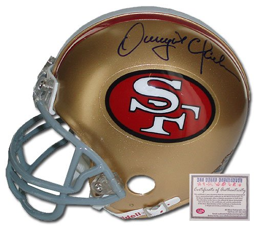 Dwight Clark Autographed Football Helmet- Full Size Replica