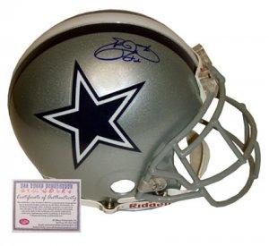 Emmitt Smith Autographed Helmet - Authentic Full Size Pro Line