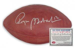Roger Staubach Autographed Football