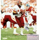 Signed Doug Williams Photo - 8x10 Dropping Back Super Bowl XXII MVP