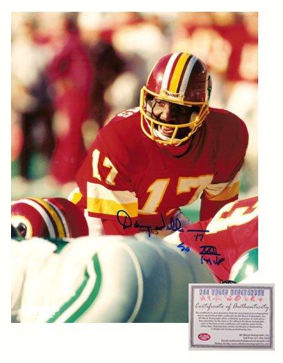 Autographed Doug Williams Photo - 8x10 Under Center Super Bowl XXII MVP