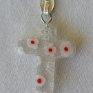 Morano cross-WHITE RED FLOWERS