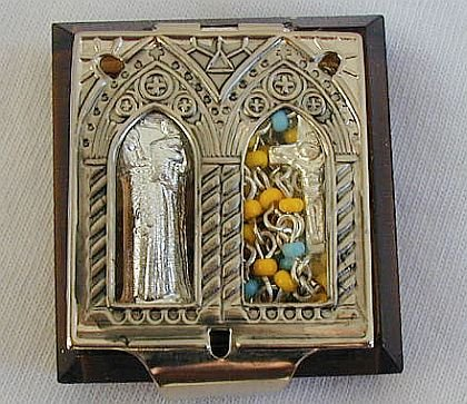 Mini ivory rosary box