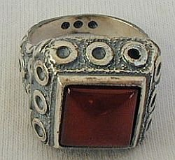 A beautiful dark red ring