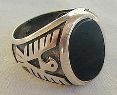 Silver man ring