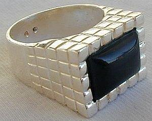 Onyx man ring-I