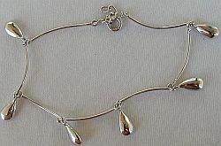 Silver drops bracelet
