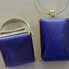 A blue cat eye set-ring&pendant