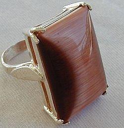 brown cat eye ring