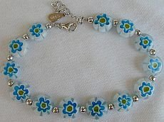 Light blue morano bracelet