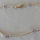 Puprle silver bracelet-B
