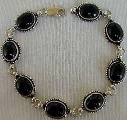 Silver-Onyx bracelet