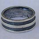 Silver strips ring
