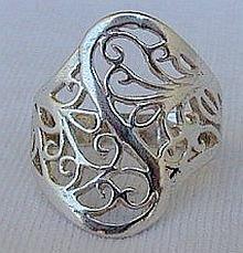 Jungle silver ring