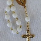 Mini white Rosary