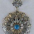Classic Tur+silver chain