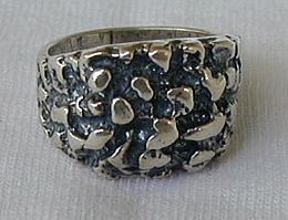 Rock  silver ring