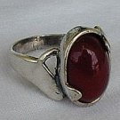 Red  silver ring-E